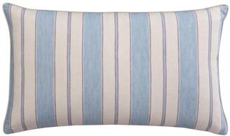 OKA Stringa Stripe Linen Cushion Cover, Small - Sky Blue