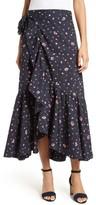Rebecca Taylor Women's Mia Print Poplin Wrap Skirt