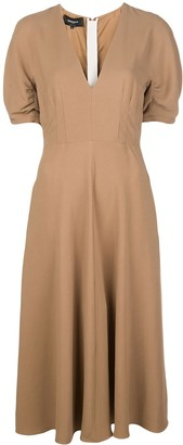 Rochas Short-Sleeved Midi Dress