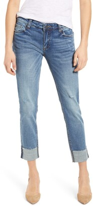 KUT from the Kloth Catherine Raw Hem Boyfriend Jeans