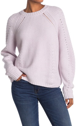 Autumn Cashmere Shaker Ribbed Open Knit Cashmere Blend Sweater