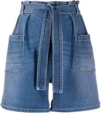 RED Valentino Wide-Leg Denim Shorts
