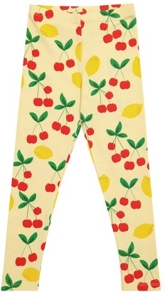 Mini Rodini Cherry Lemonade stretch-cotton leggings