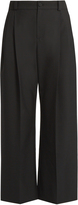 Lanvin Wide-leg pleat-front trousers