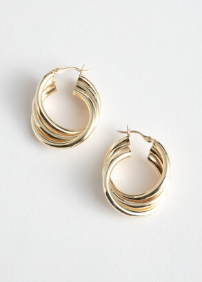 And other stories Trio Twisted Hoop Earrings