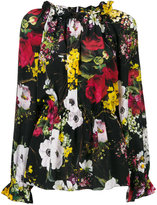 Dolce & Gabbana ruched floral blouse