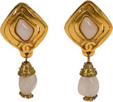 One Kings Lane Vintage Chanel 1997 Gold-Plated Drop Earrings