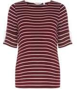 Dorothy Perkins Womens **Maternity Burgundy Flute Sleeve T-Shirt- Burgundy