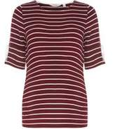 Dorothy Perkins Womens **Maternity Burgundy Flute Sleeve T-Shirt
