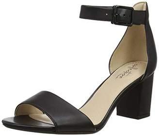 Clarks Deva Mae, Women's Ankle-Strap, Schwarz (Black Combi Black Combi), (39 EU)