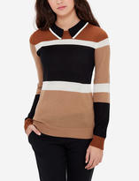 The Limited Striped Collar Sweater