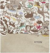 Eton Safari Print Silk Pocket Square
