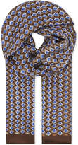 Eton Geometric Diamond Silk Scarf