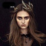 Jovono Baroque Vintage Crown with Rhinestone Bead for Bridal Wedding Headband Hair Accessory