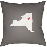 Surya State of the Heart - New York Throw Pillow