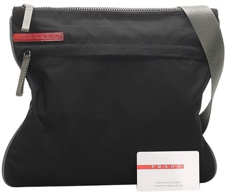 Prada Pre Owned Logo Tag Messenger Bag