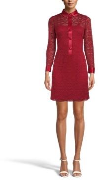 Anne Klein Collared Lace Sheath Dress