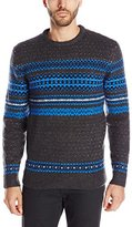 French Connection Men's Feltet Fair Isle Knit Sweater
