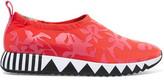Tory Burch Jupiter Printed Neoprene Slip-On Sneakers
