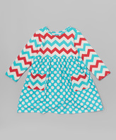 Flap Happy Country Punch Chevron Pocket Dress - Toddler & Girls