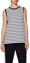 Bailey 44 Embroidered Back Striped Sleeveless Top