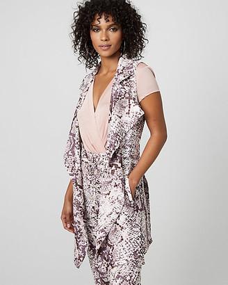 Le Château Snake Print Flowy Wrap Vest