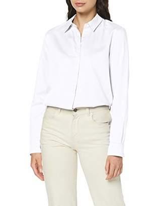 Seidensticker Women's Hemdbluse Langarm Modern fit uni-0% Baumwolle Blouse, (Chambray Blue 12), (Size:36)