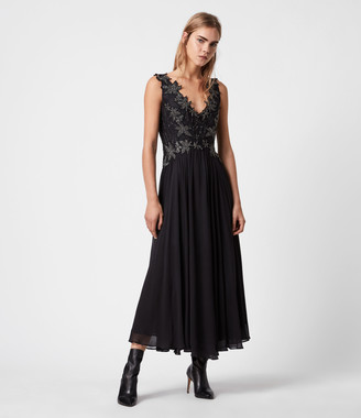 AllSaints Anita Embellished Dress