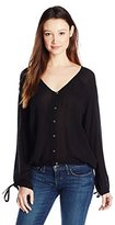 O'Neill Junior's Malene Long Sleeve Woven Blouse