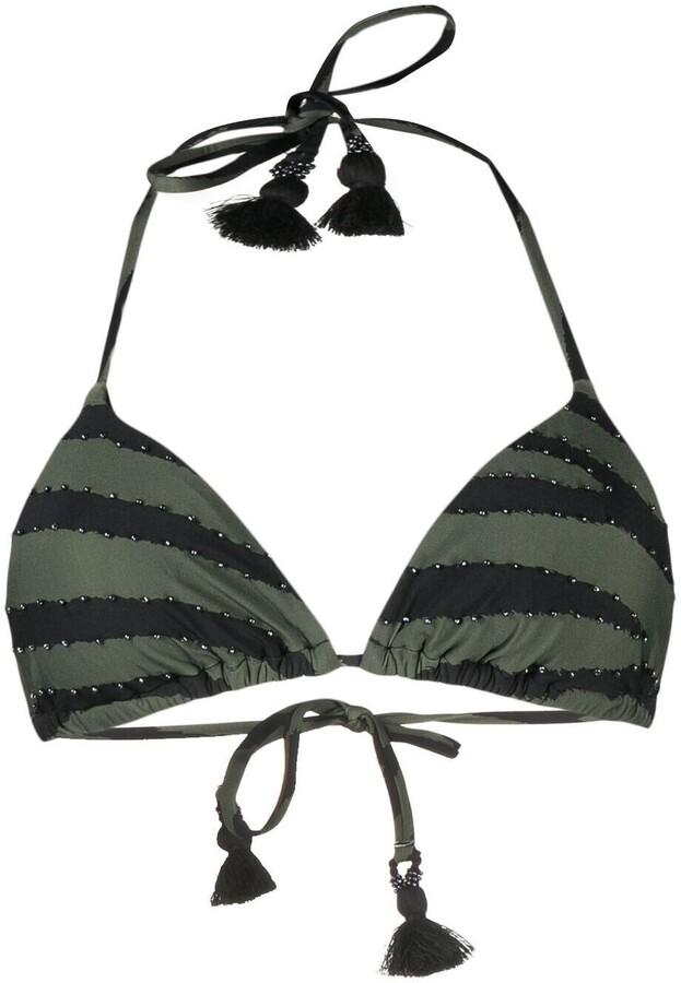 PQ Swim Zebra-Print Bikini Top
