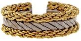 Buccellati Rope Florentine 18K White Yellow Gold Band Ring Size 5.25