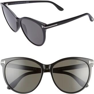 Tom Ford Maxim 59mm Polarized Cat Eye Sunglasses