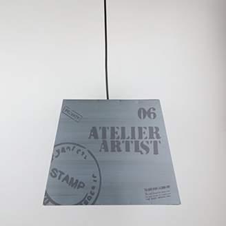 Industrial Navy Blue Metal Ceiling Light, W33 x H26 x D25cm