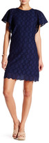 J.Crew Factory J. Crew Factory Butterfly Sleeve Eyelet Shift Dress