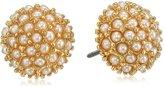 "lonna & lilly Classics"" -Tone/Pearl Stud Earrings"