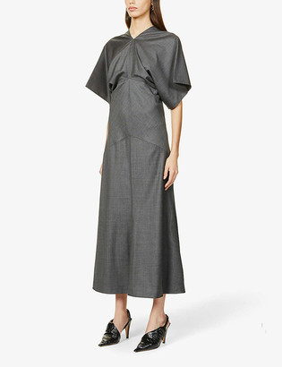 Vesture Draped wool maxi dress