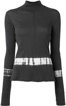 Raquel Allegra tie-dye trim T-shirt