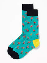 Old Navy Printed Statement Socks for Men