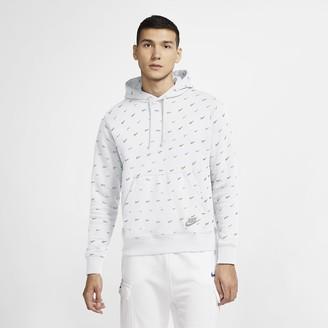 Nike Men's Printed Pullover Hoodie Sportswear Club Fleece