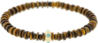Luis Morais Tigers Eye and Turquoise Bead Bracelet