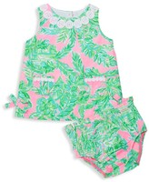 Lilly Pulitzer Baby Girl's Floral Print Dress & Bloomer Set.