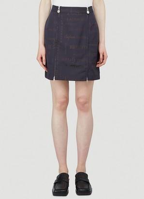 Martine Rose Heaven Printed Double Zip Skirt
