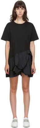 RED Valentino Black Taffeta Bow Mini Dress