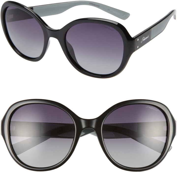 Polaroid Eyewear 55mm Polarized Round Sunglasses