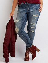 "Charlotte Russe Plus Size Refuge """"Skin Tight Legging"""" Jeans"