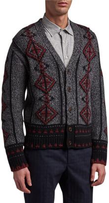 Etro Men's Western Knit Cardigan Sweater