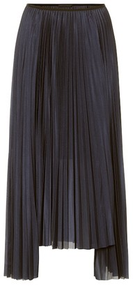 Helmut Lang High-rise pleated midi skirt