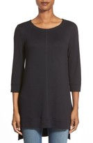 Caslon Women's Three Quarter Sleeve Side Slit Tunic