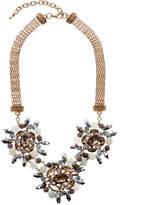 Dogwood Lane Blue Crystal Statement Necklace
