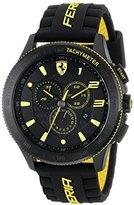 "Ferrari Men's 0830139 ""Scuderia XX"" Stainless Steel Watch with Black Silicone Strap"